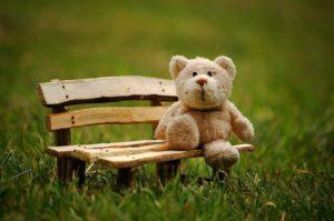 クマが座る