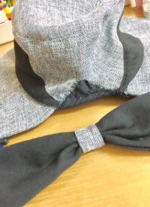帽子のサイズ治す